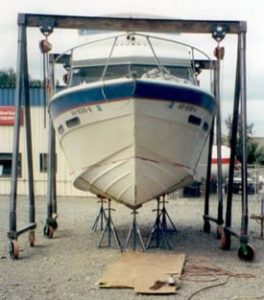 Before Picture of Damaged Boat